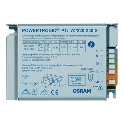 ЭПРА Osram PTi 70W/230-240 S 110X75X30 для металлогалогенных ламп мощностью 70 Ватт