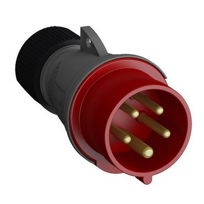 Вилка кабельная ABB Easy&Safe 416EP6, 16А, 3P+N+E, IP44, силовая переносная