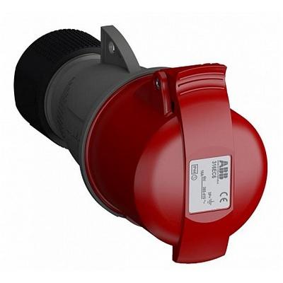 Розетка силовая ABB Easy&Safe 416EC6, 16А, 3P+N+E, IP44, кабельная, переносная