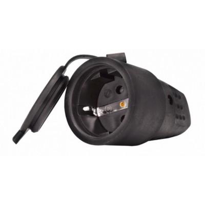 Штепсельная розетка каучуковая UNIVersal, с/з, 16А 250В IP44