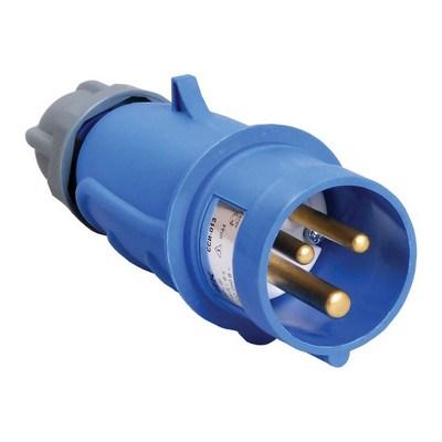Вилка кабельная ИЭК MAGNUM ССИ-013 16А 200-250В 2Р+РЕ, IP44, силовая, переносная