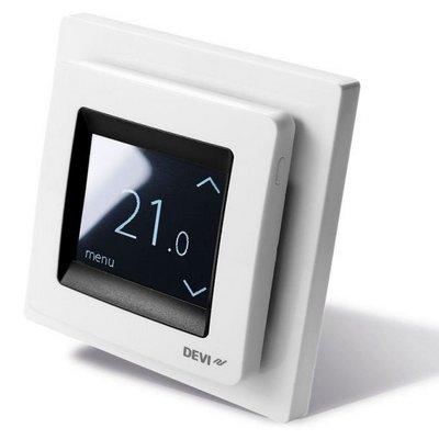 Терморегулятор DEVI DEVIreg Touch сенсорный белый 16А