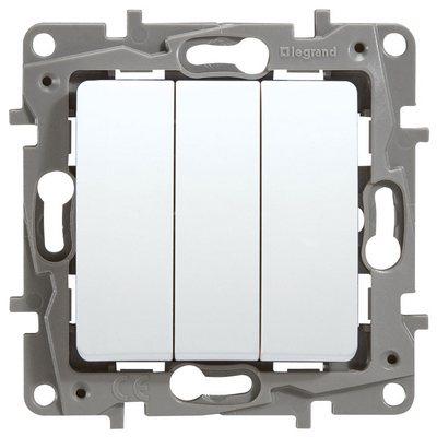 Выключатель Legrand Etika трехклавишный 10A белый