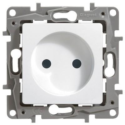 Розетка Legrand Etika электрическая без заземления 2К белый
