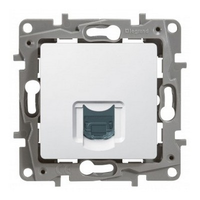 Розетка компьютерная Legrand Etika RJ45, кат.6е UTP, белый