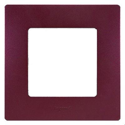 Рамка Legrand Etika 1-постовая, сливовый
