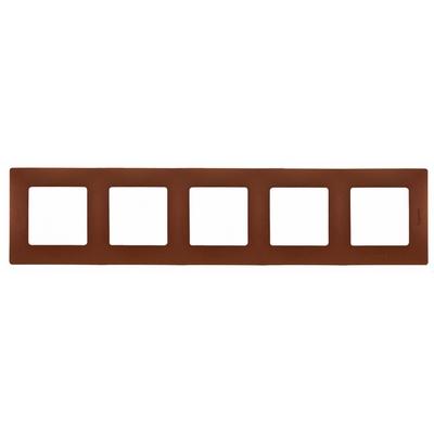Рамка Legrand Etika 5-постовая, какао