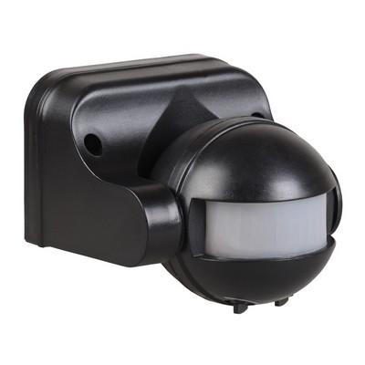 Датчик движения ИЭК ДД 009 черный, макс. нагрузка 1100Вт, угол обзора 180град., дальность 12м, IP44