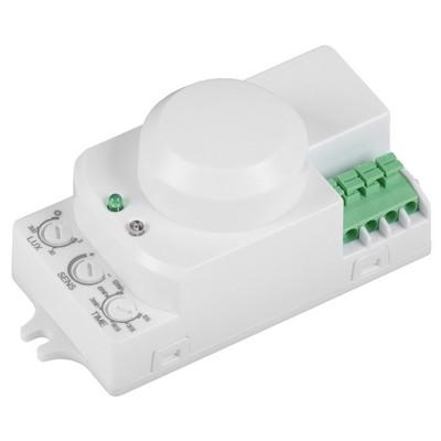 Датчик движения ИЭК ДД-МВ 201 белый, 1200Вт, 360 гр., дальность 8М, IP20