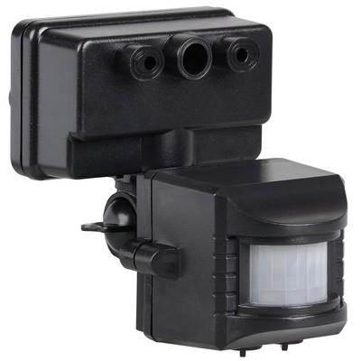 Датчик движения ИЭК ДД 019 черный, макс. нагрузка 1100Вт, угол обзора 120град., дальность 12м, IP44