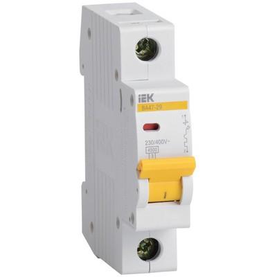 Автоматический выключатель ВА 47-29 1Р 16А 4,5кА характеристика С ИЭК IEK