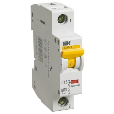 Автоматический выключатель ВА 47-60 1-полюсный 25А 6 кА характеристика С ИЭК IEK