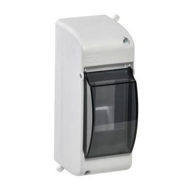 Бокс ИЭК КМПн 2/2-модуля, с прозрачной крышкой, для 2-х автоматических выключателей, наружной установки
