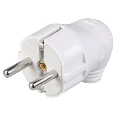 Вилка кабельная разборная угловая с з/к 16А белая ВПу11-01-С