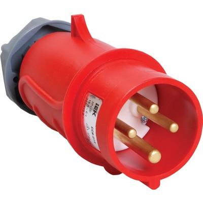 Вилка кабельная ИЭК MAGNUM ССИ-014 16А 380-415В 3Р+РЕ, IP44, силовая, переносная