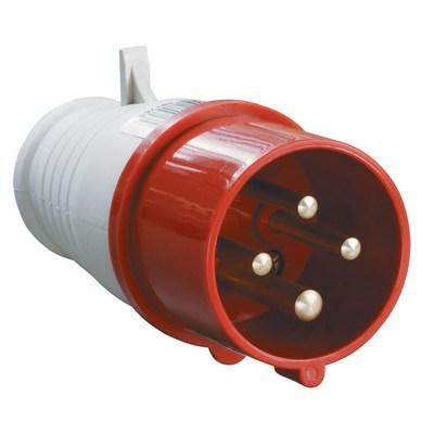 Вилка кабельная ИЭК 014 3Р+РЕ 16А 380В, IP44, силовая, переносная