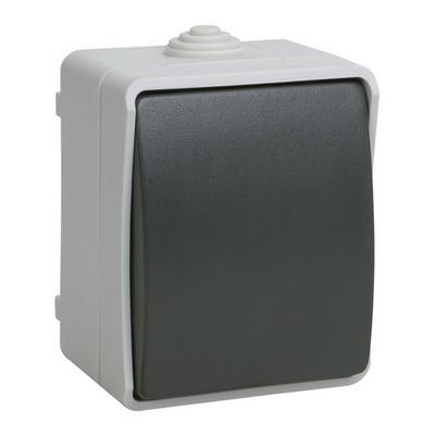 Выключатель одноклавишный ИЭК ФОРС 10А/250В для открытой установки IP54 ВС20-1-0-ФСр