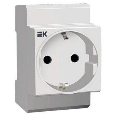 Розетка щитовая на DIN-рейку РАр10-3-ОП с заземлением ИЭК