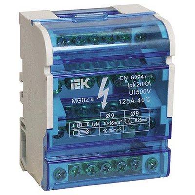Блок распределительный (кросс-модуль) ИЭК 3L+PEN 4х7