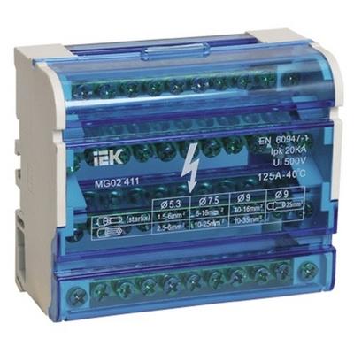 Блок распределительный (кросс-модуль) ИЭК 3L+PEN 4х11