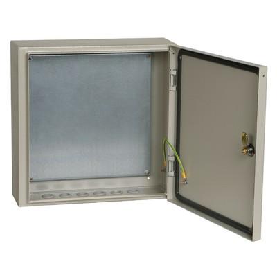 Распределительный щит ЩМП-4.4.1-0 74 ИЭК, с монтажной панелью, металлический, влагозащищенный, 400х400х150