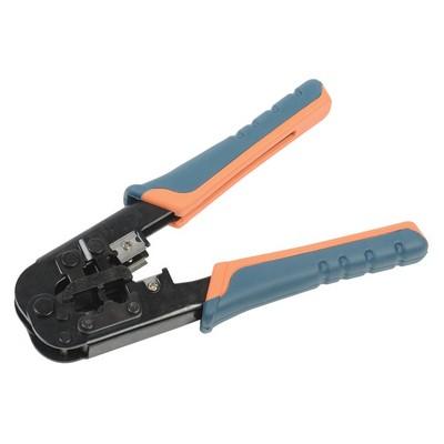 Инструмент ITK, обжим для RJ-45,12,11 без храпового механизма сине-оранжевый