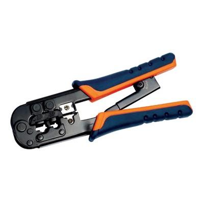 Инструмент ITK, обжим для RJ-45,12,11 с храповым механизмом сине-оранжевый