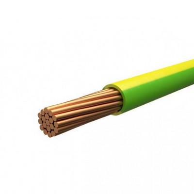 Провод установочный ПуГВ (ПВ-3) 1,5 желто-зеленый