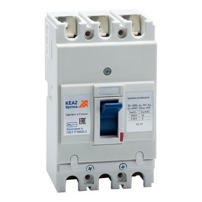 Выключатель автоматический КЭАЗ OptiMat 63А,3п, E100L063-УХЛ3