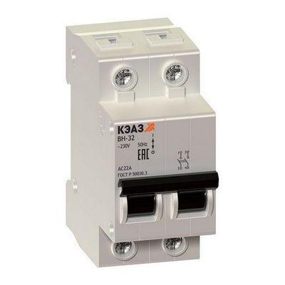Модульные выключатели нагрузки КЭАЗ ВН-32-2100-УХЛ3 2П 100А