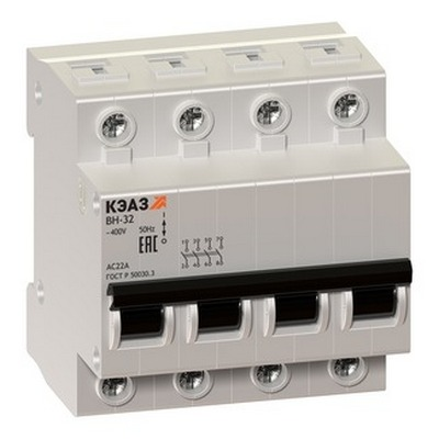 Модульные выключатели нагрузки КЭАЗ ВН-32-463-УХЛ3 4П 63А