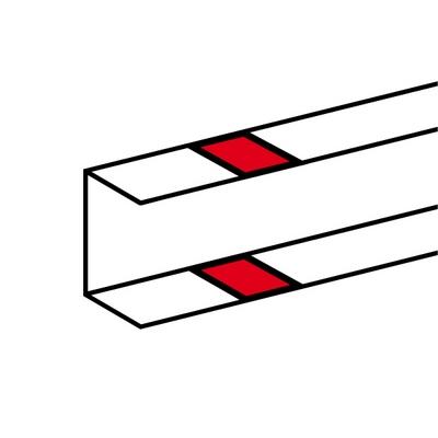 Legrand DLP накладка на стык профиля на защелках для односекционных кабель-каналов 50х105 белый