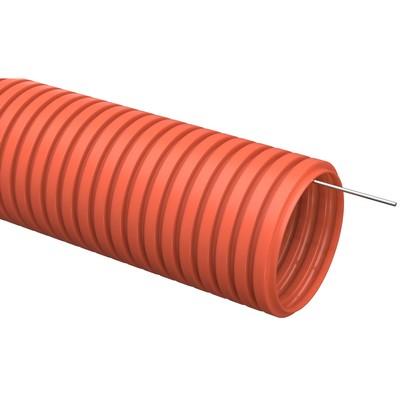 Труба гофрированная ПНД d16 с зондом, оранжевая (100м) IEK