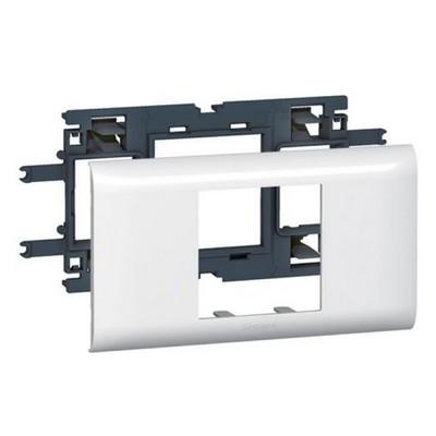 Суппорт Legrand Mosaic для кабель-каналов с шириной крышки 65 мм - 2 модуля белый