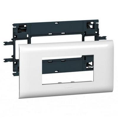 Суппорт Legrand Mosaic для кабель-каналов с шириной крышки 65 мм - 4 модуля белый