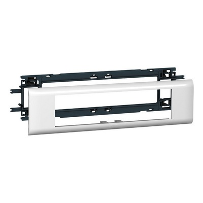 Суппорт Legrand Mosaic для кабель-каналов с шириной крышки 65 мм - 8 модулей белый