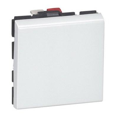 Выключатель Legrand Mosaic 10A 250В 2 модуля белый