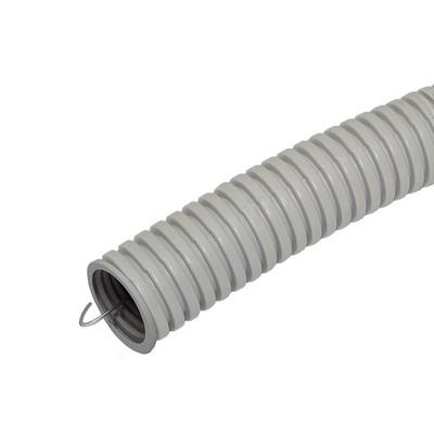 Труба гофрированная ПВХ 16мм с зондом серая
