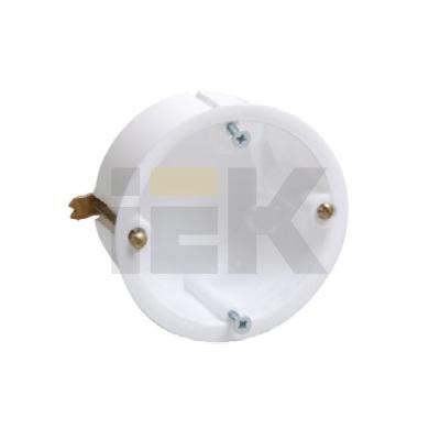 Коробка (подрозетник) КМ40021 скрытой проводки d65х45мм для полых стен (с саморезами и металлические лапкими)