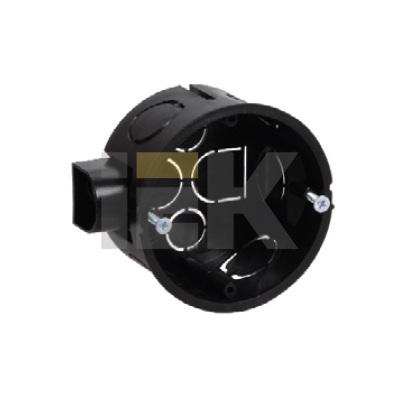 Коробка (подрозетник) КМ40002 скрытой проводки для твердых стен d65x40 с саморезами