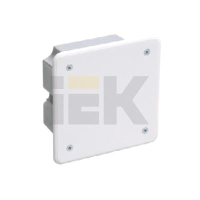 Коробка КМ41001 распаячная скрытой проводки для твердых стен 92x92x45 (с саморезами, с крышкой)