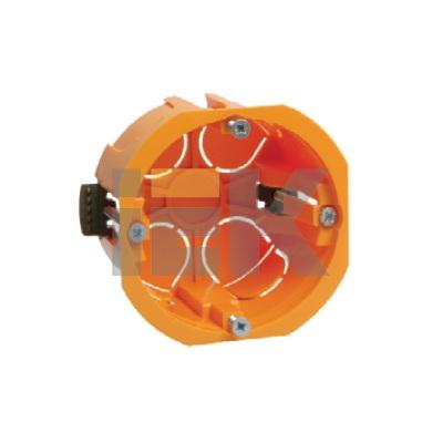 Коробка (подрозетник) КМ40022 скрытой проводки d65х45мм для полых стен (с саморезами и пластиковыми лапками)