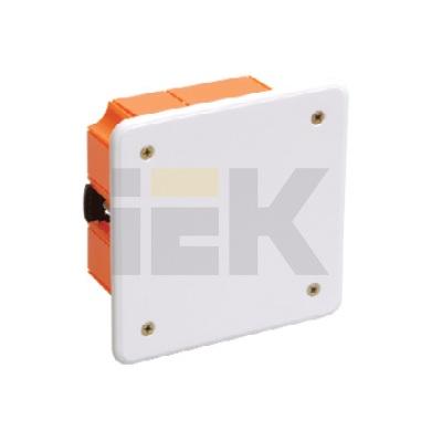Коробка КМ41022 распаячная скрытой проводки 92х92x45мм для полых стен (с саморезами, пластиковые лапки, с крышкой )