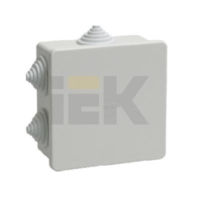 Коробка КМ41235 распаячная открытой проводки 85х85х45мм IP44 (6 гермовводов)