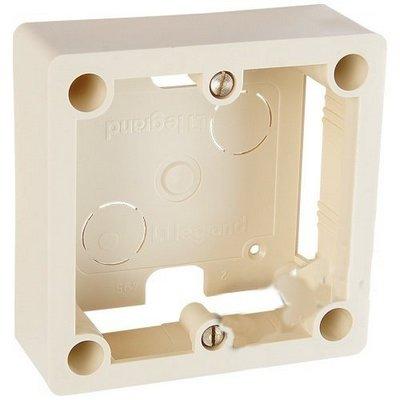Коробка накладная 1 пост для встраиваемых розеток LEGRAND 20А и 32А 100x100 мм глубина 36 мм