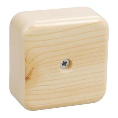Коробка КМ41206-04 распаячная для кабель-канала 50х50х20мм сосна (4 клеммы 3мм2)