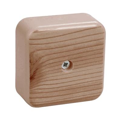 Коробка КМ41206-05 распаячная для кабель-канала 50х50х20мм дуб (4 клеммы 3мм2)