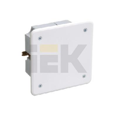 Коробка КМ41021 распаячная скрытой проводки 92х92x45мм для полых стен (с саморезами, металлические лапки, с крышкой )