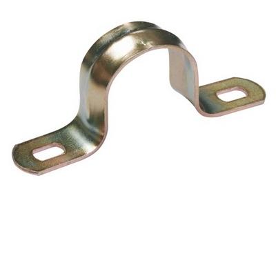 Скоба металлическая двухлапковая d10-11мм ИЭК