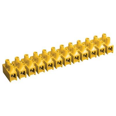Зажим винтовой ЗВИ-3, н/г 1,0-2,5 мм2, 12пар, ИЭК желтые